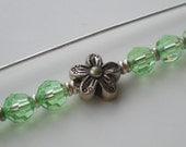 Shawl Pin Rosemary - Peridot Swarovski Crystal and Sterling Silver Beads