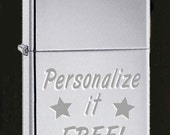 Custom high polish Zippo Lighter Free Engraving gift Idea