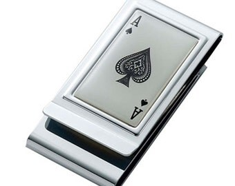 Custom Engraved ACE- Double Sided- Money Clip Gift