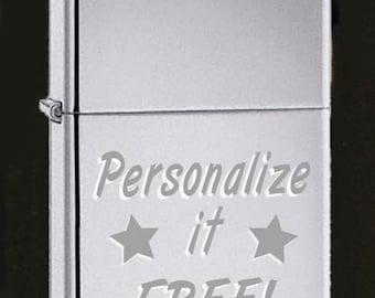 Custom high polish Zippo Lighter with Free Engrave