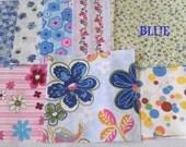 DESTASHED Quilt Squares Pink or Blue