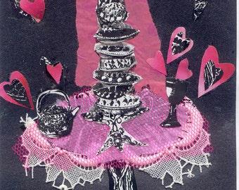 Sweet Pink Cake postcard