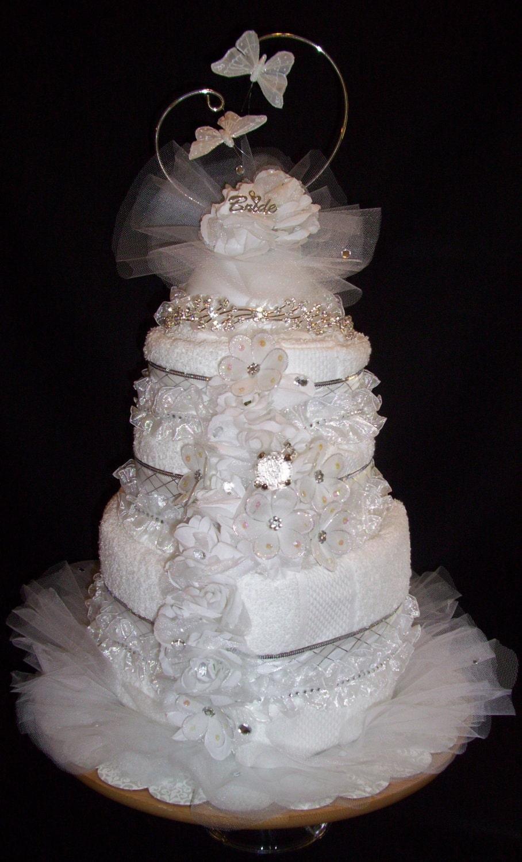 Towel Wedding Cake For Shower