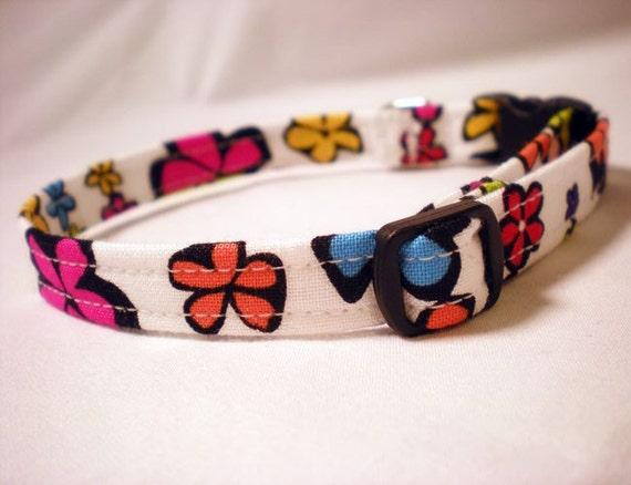 Cat Collar Boho Hippie Flowers Fabric