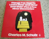 1989 Things I've had to Learn Over and over PEANUTS Charles M.Schulz