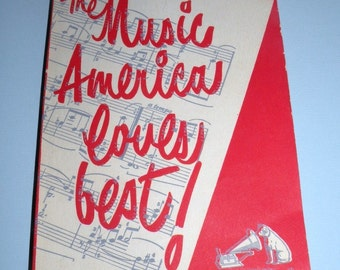 1950 RCA Victor The Music America Loves Best  240 page book Wonderful identification booklet of all the music  RARE