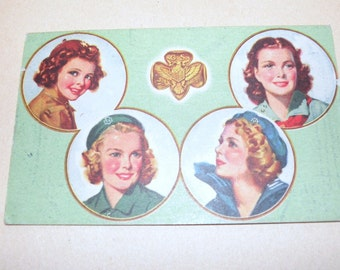 1945 Girl Scouts Membership Card   Excellent condition