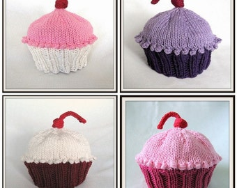 Boston Beanies Cupcake Hat, Knit Cotton Baby Hat, Custom Order