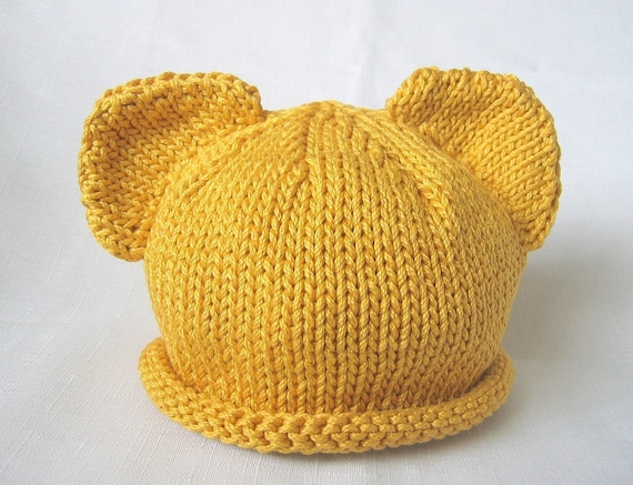 Boston Beanies Winnie the Pooh Hat Knit Bear by BostonBeanies