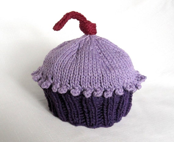 Knitting Pattern Cupcake Beanie : Knit Cupcake Hat Pattern, Boston Beanies from ...
