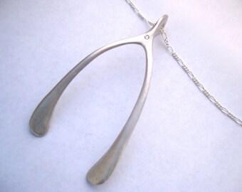 Wishes come True Diamond Wishbone Necklace