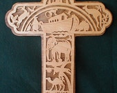 Small Noah's ark cross