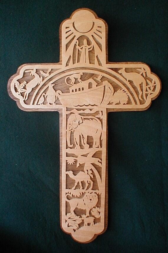 Small Noah's ark cross