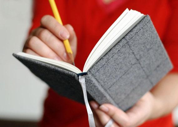 Gray Tweed Pocket Journal for Him