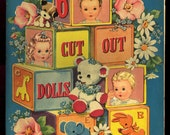 Antique Vintage Whitman Paper Doll 6 Cut Out Dolls Book 989