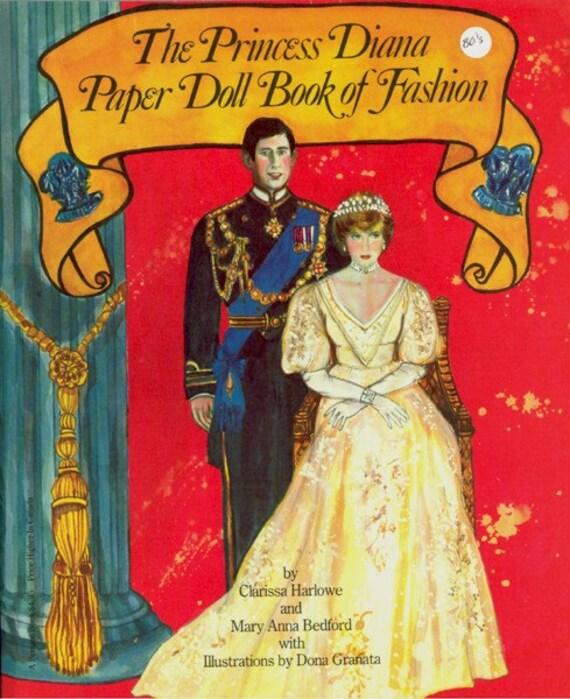 Vintage 1982 Princess Diana Uncut Paper Doll By Evelynnsalcove