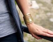 Gold Metallic Leather  Wrist Wrap