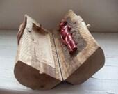Earth,Wax,Wood Log Reliquary