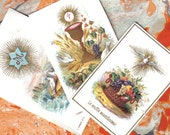 A Trio of Small and Delicate Holy Cards