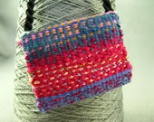 Handwoven Amulet/Treasure pouch Multi-colored Wearable Art