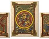 Book of Kells Celtic Art Prints Wall Decor