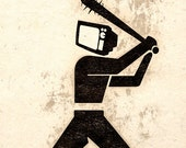 Beware Of The Violent Television Video Game Wall Art Poster Print