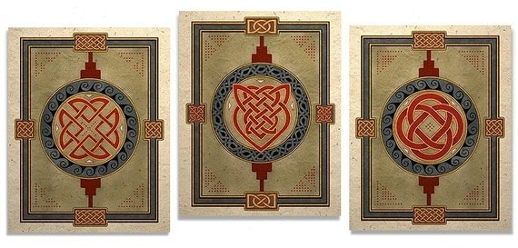 Celtic Art Prints Lovers Knot Eternity And Shield