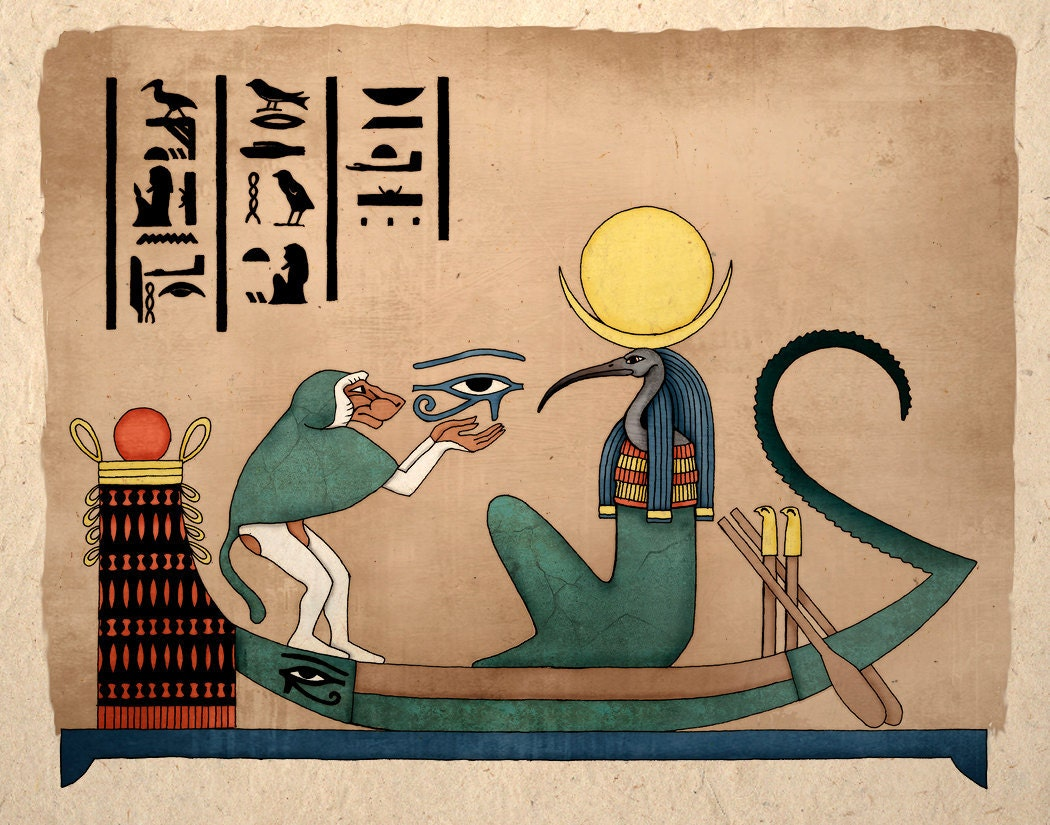 Simple Egyptian Art Egyptian Art Print Thoth