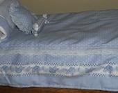 18 Inch American Girl Doll Daisy Kingdom 7  Piece Bedding Set Ready to Ship