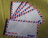 vintage style air mail envelopes- set of 5