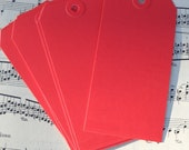 12 red shipping tags / for your crafts