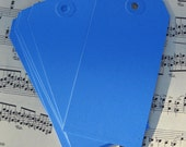12 blue shipping tags - for your crafts