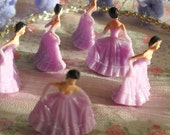 NEW COLOR miniature lavander princess (6) / for your crafts / cake toppers