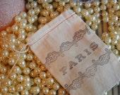 Paris- hand stamped muslin bags (5)