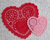 One dozen large heart shape paper doilies- you pick color
