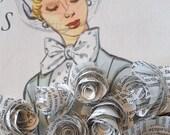 vintage paper rosettes-set of 20