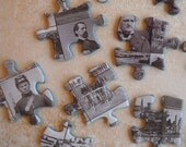 black and white civil war mini pictures- 30 puzzle pieces for your crafts
