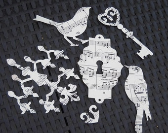 French Romance- Delicate vintage paper die cuts