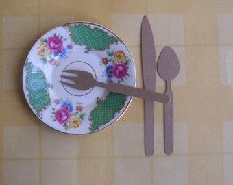9 pieces of silverware -  die cuts