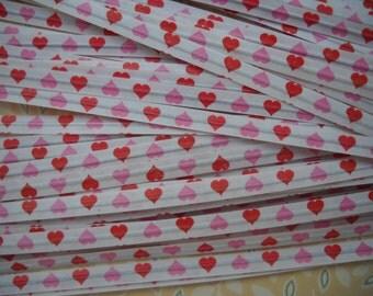 paper twist ties - hearts- set of 50