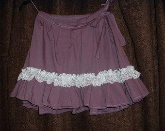Dusky Plum Mini Steampunk Wench Skirt