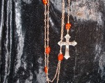 Gothic Cross with Amber