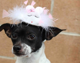 Easter bunny hat for dog or cat