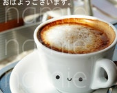 SALE Japanese Photocard - good morning coffee