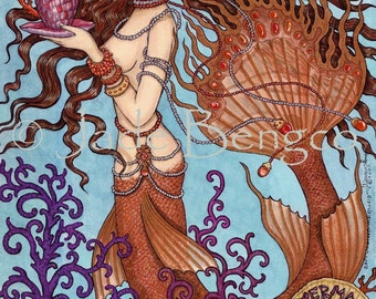 CAPPUCCINO MERMAID limited edition fine art print