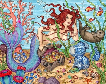 MERMAID'S DOMAIN limited edition art print