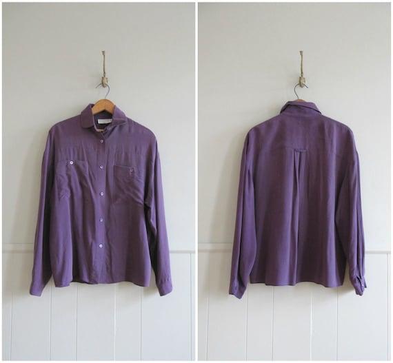 early 90s vintage violet purple silk shirt