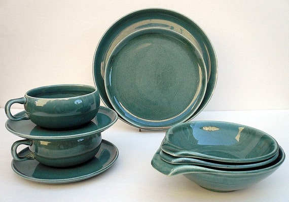 Russel Wright American Modern Dinnerware 9pc Set By Joevintage
