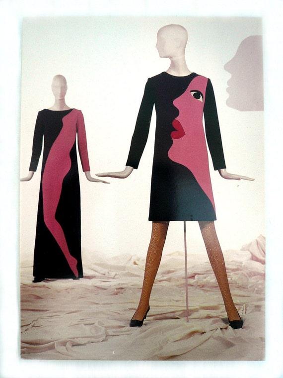 Yves Saint Laurent Fashion Illustration Postcards