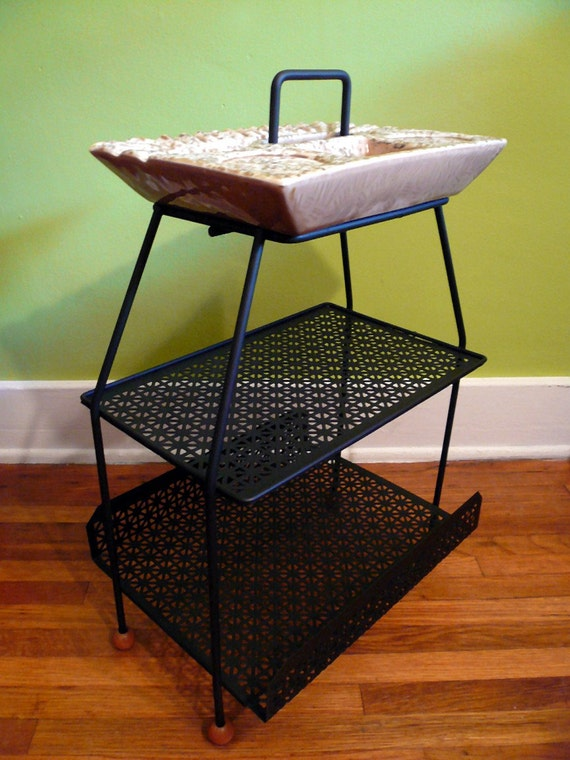 1950s Atomic Ashtray Drink Stand Magazine Rack